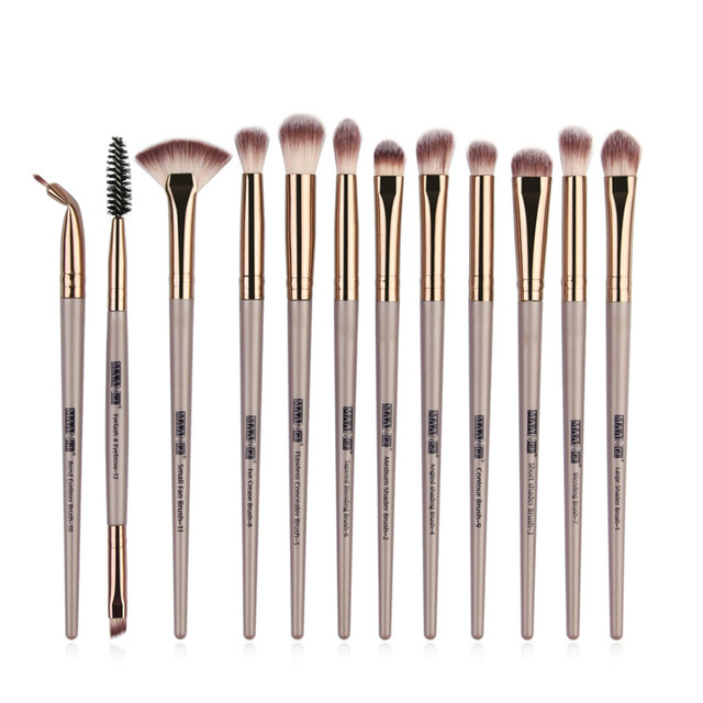 Pro Makeup Brushes Set 6/ 12 pcs Eye Shadow Concealer Blending Eyeliner Eyelash Eyebrow Blush Brushes Portable Eye Brush Set 4
