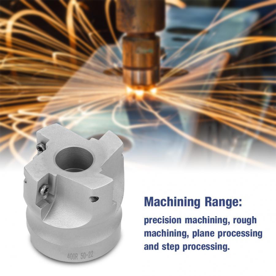 "50mm 2/"" Face Milling Cutter CNC End Mill BAP400R-50-22-4F 10 APMT1604 Inserts"