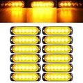 12 шт 6 LED Желтый стробоскоп вспышка автомобиль грузовик мигающий предупреждающий боковой свет 12В-24В