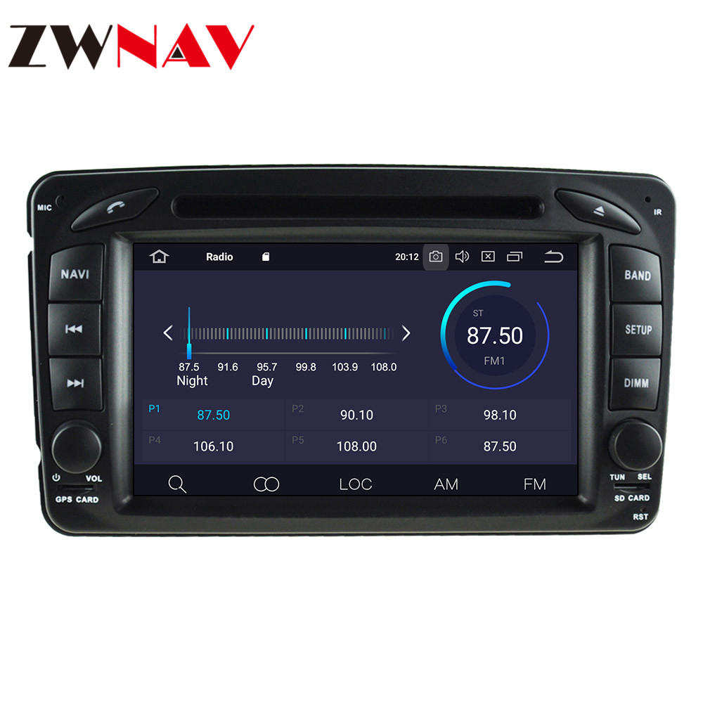 ZWNAV 64GB <font><b>Android</b></font> <font><b>10</b></font> Car DVD For Mercedes Benz CLK W203 W208 W209 W210 W463 Vito Viano 2din auto radio stereo with dsp Stereo image