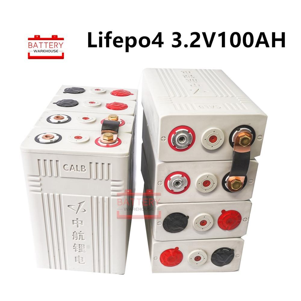 8 pièces 3.2v 100ah Lifepo4 batterie Lithium fer phosphate piles nouvelles CALB ca100 plastique 12v200AH 24V100AH pour solaire RV pack