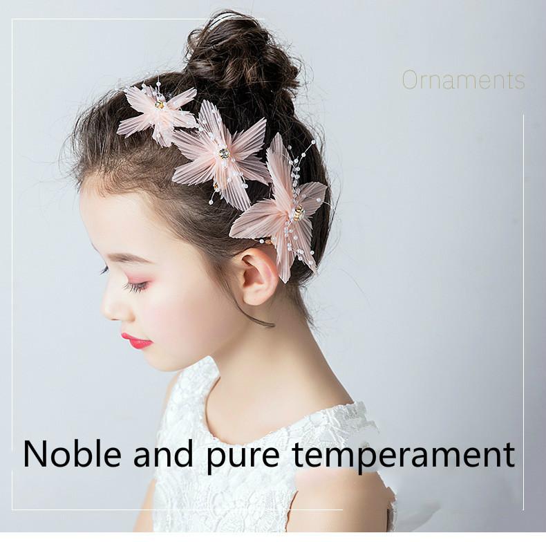 Шпилька для волос девочек цветочный головной убор маленькой