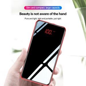 Image 3 - 10000mAh moc banku dla Xiaomi przenośna ładowarka banku lustro telefonu telefony komórkowe z 10000 Mah Micro Usb typ C zewnętrzna bateria