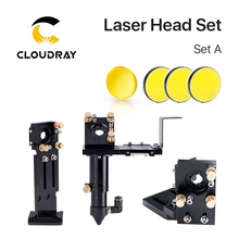 Cloudray e シリーズ: CO2 レーザーヘッドセット + 1 個集束レンズ + 3 個 si/mo ミラー彫刻切断機用部品
