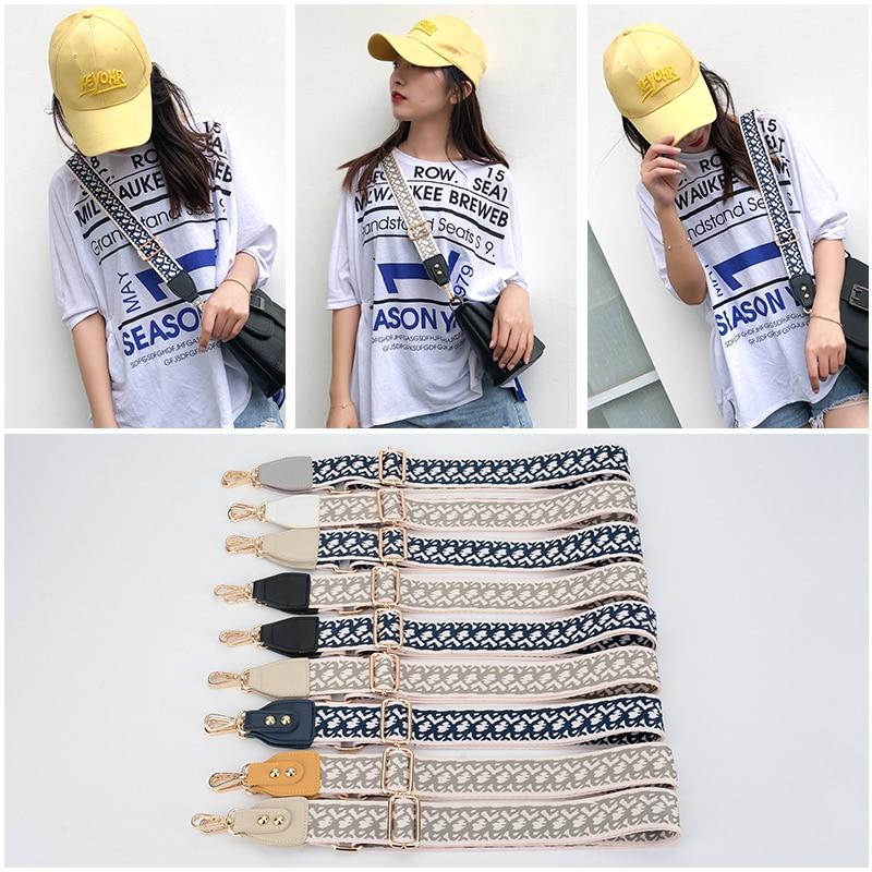 Fashionable Luxury Colorful Shoulder Strap Adjustable Ladies Bag Accessories Diagonal Woven Nylon Color Shoulder Strap Obag
