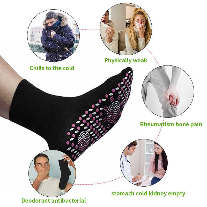 Nieuwe Magnetische Sok Therapie Comfortabele Zelfopwarming Gezondheidszorg Sok Toermalijn Ademend Massager Winter Warme Zorg Verwarmde Sokken
