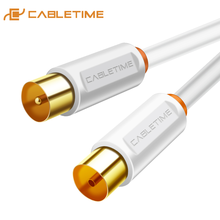 CABLETIME TV M/F Cable 3C2V Video Cable TV Antenna For High definition Television HD High Quality STB Digital TV Line C268