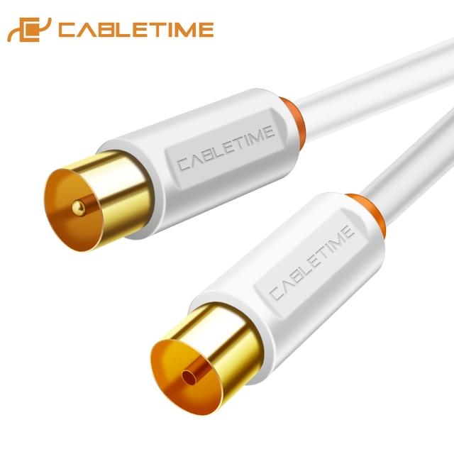 CABLETIME TV câble M/F 3C2V antenne de télévision par câble vidéo pour télévision haute définition HD haute qualité STB ligne de télévision numérique C268