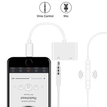 Adapter 2 in 1 For Apple iPhone XS MAX XR X 7 8 Plus 11pro 3.5mm Jack Earphone Adapter Aux Cable For IOS 12 3 in 1 for lightning to 3 5mm audio jack adapter dual for lightning aux earphone jack conveter for iphone x 8 plus 8 7 ios 9 12