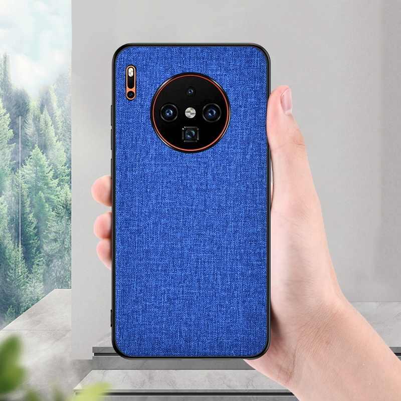 حافظة لهاتف Huawei P30 P20 الموالية زميله 20 لايت حالات ضئيلة النسيج الجلد الصلب الغطاء الخلفي لهواوي P الذكية زائد 2019 Z نوفا 4 4E 3i 3E