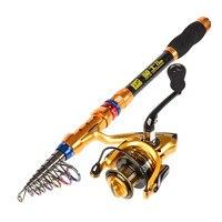 Carbon Fiber Telescopic Spining Fishing Rod High Strength Fishing Rods 1.8M 2.1M 2.4M 2.7M 3.0M 3.6M Fish Pole