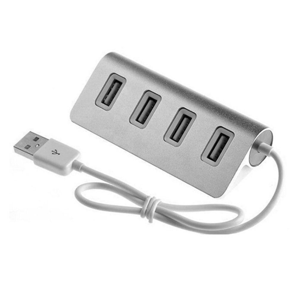 Высокая Скорость Mini 4 Порты и разъёмы синего цвета со светодиодной подсветкой и USB концентратор алюминиевая Мощность для Apple Mac Macbook ноутбука ...