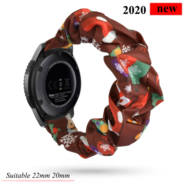 20 22mm Watch band For samsung galaxy watch 46mm active 2 42mm huawei watch GT2 strap Elastic Strap gear s3 frontier amazfit bip