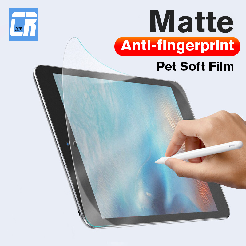 Anti-fingerprint Matte Pet Soft Film For Apple IPad Mini 2 3 4  5 Full Cover Screen Protector For IPad Air 1 2 Film Not Glass
