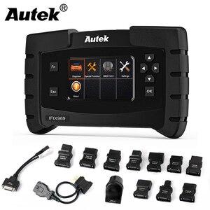 Image 1 - Autek IFIX969 OBDII Автомобильный сканер подушка безопасности ABS SRS SAS EPB сброс масла TPMS профессиональная полная система ODB OBD2 диагностический инструмент