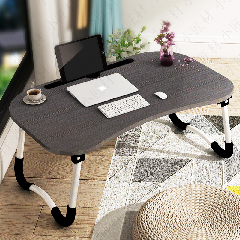 Foldable CHILDREN'S Study Desk Young STUDENT'S Homework Writing Desk China Mobile Book Table Household Bed Folding Computer Desk