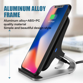 15w Qi Wireless Charger Stand for iPhone 11 Pro XS XR xiaomi Samsung S10 S10E Fast Charging Station mobile phone chargers quick
