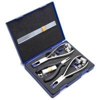 Óculos de aço inoxidável alicate conjunto sem aro desmontagem óculos quadros kit ferramenta óptica para reparação óculos quadros promoção|Alicates| |  -