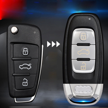 Car Upgraded Replacement Key CoverModified Remote Key Shell Key Case for Audi A6 Q7 A4 TT with Logo Blade