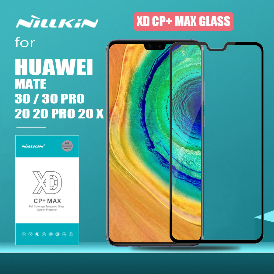 <font><b>Huawei</b></font> <font><b>Mate</b></font> 30 <font><b>Pro</b></font> <font><b>20</b></font> X <font><b>Glass</b></font> Nillkin XD CP+ Max Full Cover 3D Tempered <font><b>Glass</b></font> Screen Protector for <font><b>Huawei</b></font> <font><b>Mate</b></font> 30 <font><b>Pro</b></font> 20X <font><b>Glass</b></font> image