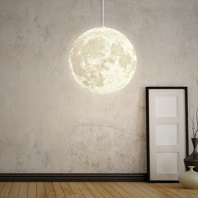 Atmosphere Pendant 3D Moon Lamp - Lamps & Lighting