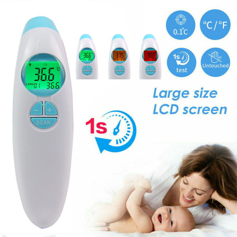 Convenient Portable Non Contact Digital IR Infrared Forehead Thermometer Gun Adult Kids Baby Body Temperature Thermometers