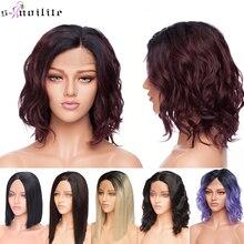 SNOILITE short ombre bob u part lace front wig Synthetic fre