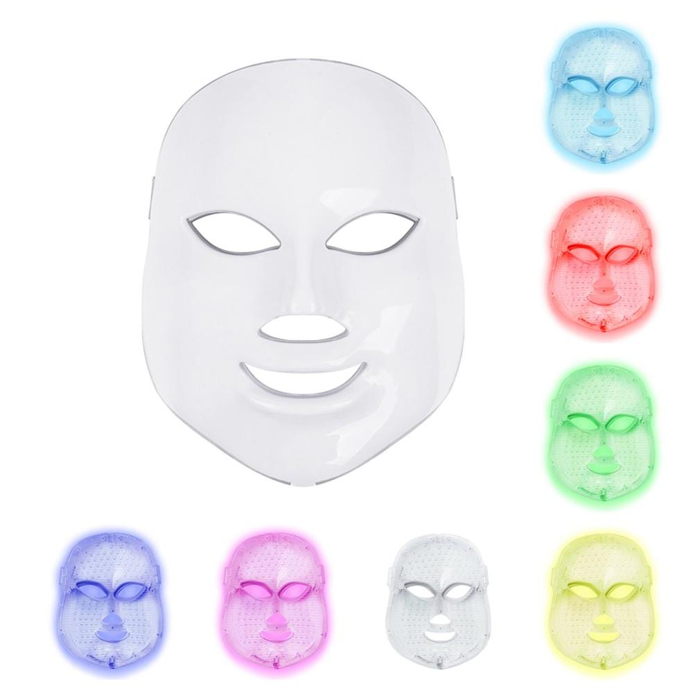 Home Beauty Equipment Led Photon Beauty Mask Instrument Seven Color Photon Rejuvenation Instrument Charging Spectrometer