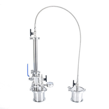 Mini 60G Top Fill Closed Loop Extractor, BHO Extractor Pressurized Extractor Kit. 304 stainless steel extractor bho pressurized extractor kit closed circuit 304 stainless steel extractor dewaxing bucket dry ice jacket