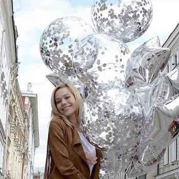 Украшение на день рождения, свадьбу, вечеринку, прозрачный гелиевый фон, сувениры, Рождественский Декор, воздушный шар, заполненные красочными блестками
