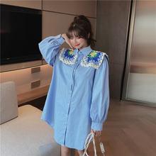 Модное Новое ретро платье со съемным длинным рукавом и воротником