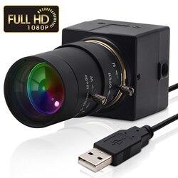 2020 Top ELP 1080P Sony IMX322 H.264 słabe światło 0.01Lux maszyna przemysłowa wizja Mini Usb kamera internetowa do komputera PC Laptop
