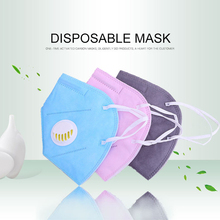 Пыленепроницаемые маски Анти-пыль дыхательный клапан лицевая Защитная крышка одноразовые салонные ушные петли маски со ртом для лица активированная угольная маска