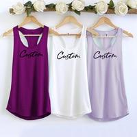 DIY customize women Tank Tops  Personalized Cusual Loose Tri-blend Sleeveless Tee Shirt 1
