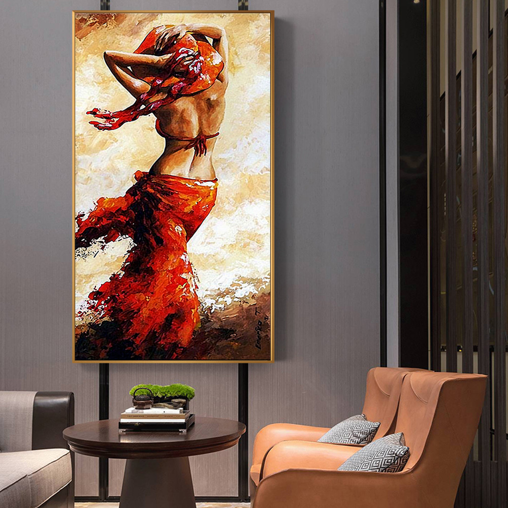 African Abstract Oil Painting