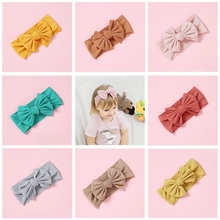 1pcs Knitted Hair Bow Headbands Elastic Wool Wide Turban Girls Stretchy Accessories Fashion Head Wraps Hairbands