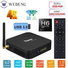 Smart TV Box Android 9.0 Tanix TX6 Allwinner H6 Quad Core 4GB RAM 64GB ROM 32G 4K 2.4G/5GHz Dual WiFi Set Top Box