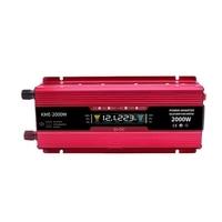 2000W Inverter with Display LCD Car Inverter Power 12V to 220V Red High Power Inverter|Modific.| |  -