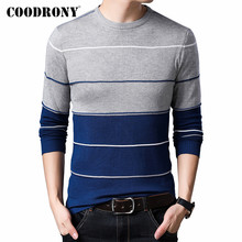 COODRONY Brand Sweater Men Casual O-Neck Pull Homme 2019 Autumn Winter Knitwear Sweaters Cotton Pullover Men Jersey Hombre C1012
