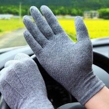 Весна лето мужской женский солнцезащитный крем перчатки вождения дышащий анти-слип впитывает пот хлопок летние перчатки сенсорный экран SZ101W1