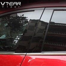 Vtear For Mazda 3 Axela 2014 2018 okno samochodu BC kolumna naklejka tapicerka lustro odbicie panel akcesoria zewnętrzne hatchback sedan