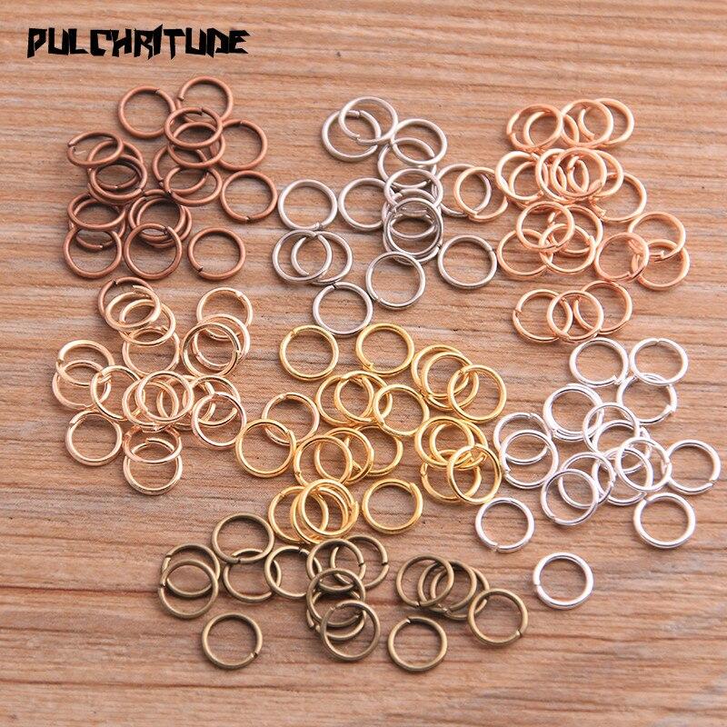 Открытое кольцо для самостоятельного изготовления ожерелий, браслетов, цепочек, ювелирных изделий, 6 мм, 7 цветов, 100 шт., 2020