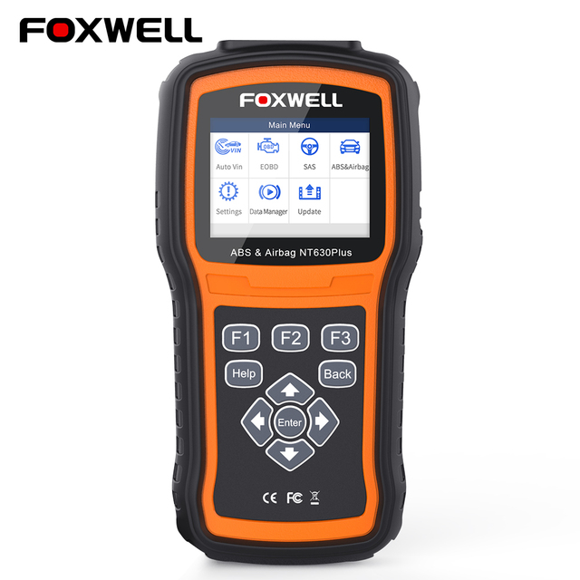 Foxwell NT630 Plus OBD2 ABS Airbag Scanner Automotive SRS Crash Data Reset SAS OBD 2 Auto Scanner OBD Car Diagnostic Scan Tool