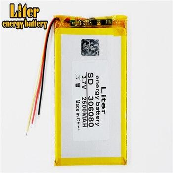 306080 2500 mah love landing PDA smart tablet computer 3.7 v polymer 3 line 1