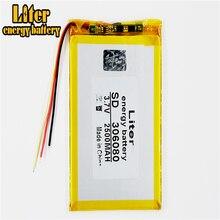 306080 2500 mah love landing PDA smart tablet computer 3.7 v polymer 3 line