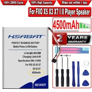 Hsabat X5 4500 Mah Batterij Voor Fiio X5 X3 X7 I Ii Player Speaker(China)