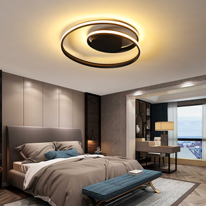 Led Ceiling Overhead Lamp for Bedroom Living Room Dining Modern Creative Black Chandelier in the Kitchen Home Lighting Design