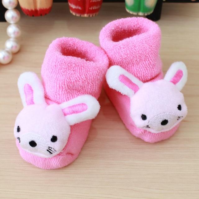JAYCOSIN 1 paire coton bébé chaussettes en caoutchouc anti-dérapant garçon fille étage enfants bambins automne printemps Animal infantile nouveau-né mignon cadeau