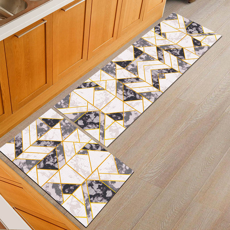 Water Absorbent Kitchen Mats with Anti Slip Bottom Suitable for Kitchen and Living Room Floor 5