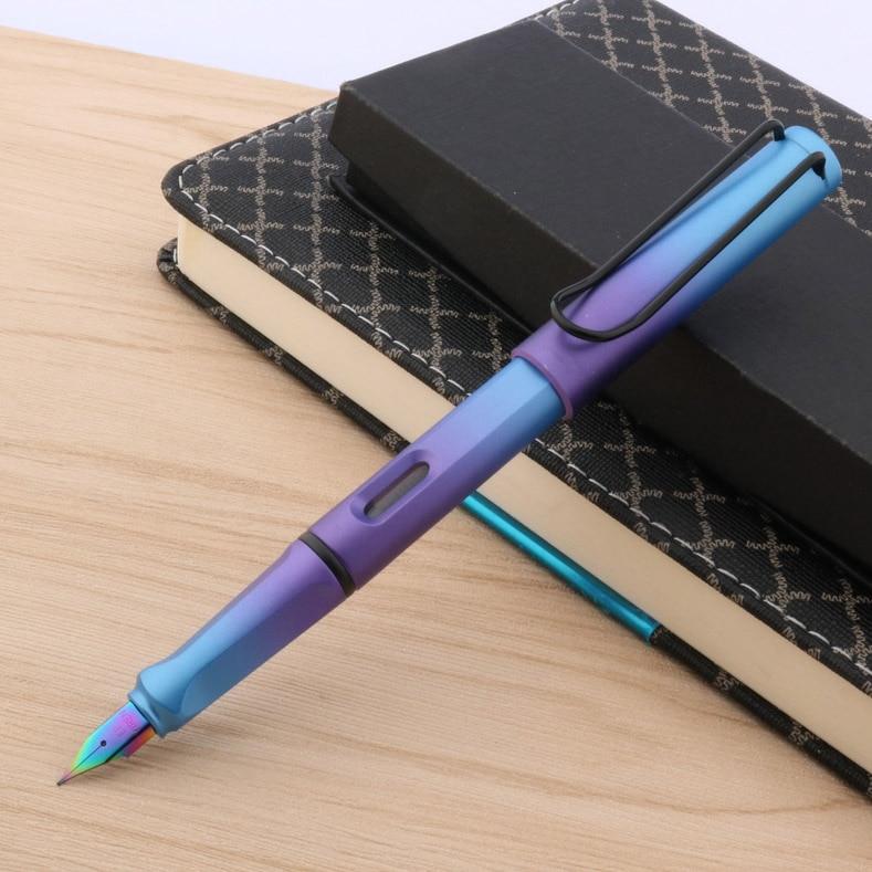 Chinese Gradient EF Nib BLUE Purple Aurora Fountain Pen